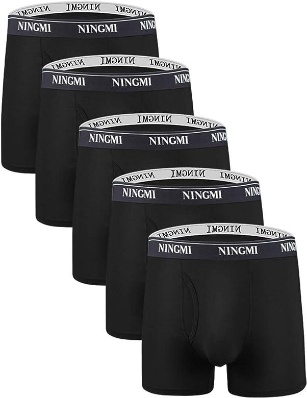 Top Qualité 4-Pack Homme de fibres de Bambou Sous-vêtements Ultra Doux Respirant Boxer Brief