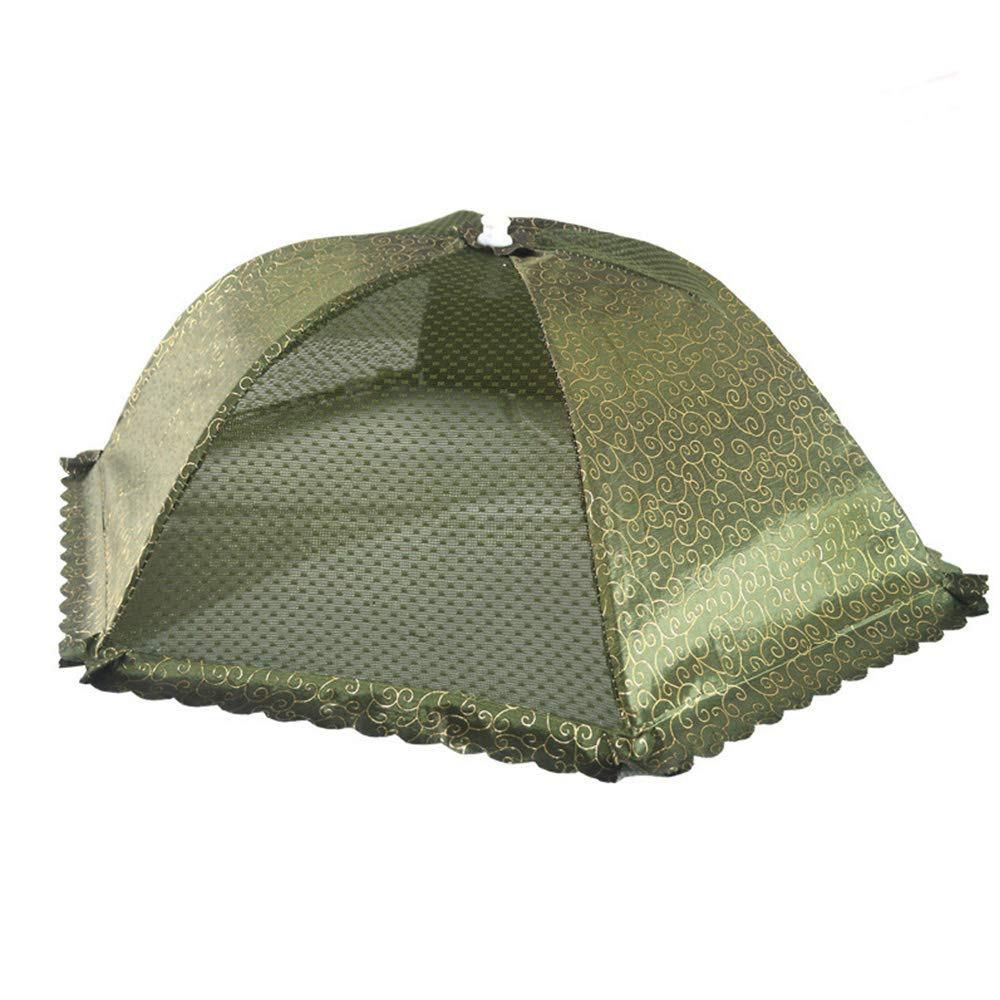 Food Cover Food Dish Cover, Table Cover Folding Cover Dish Cover Foldable Household Large(3Pcs),Green,3Pcs