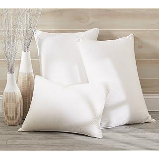 Dreamstead by Cuddledown Luxurious 700FP Goose Down Medium Hypoallergenic Pillow, King, Sateen
