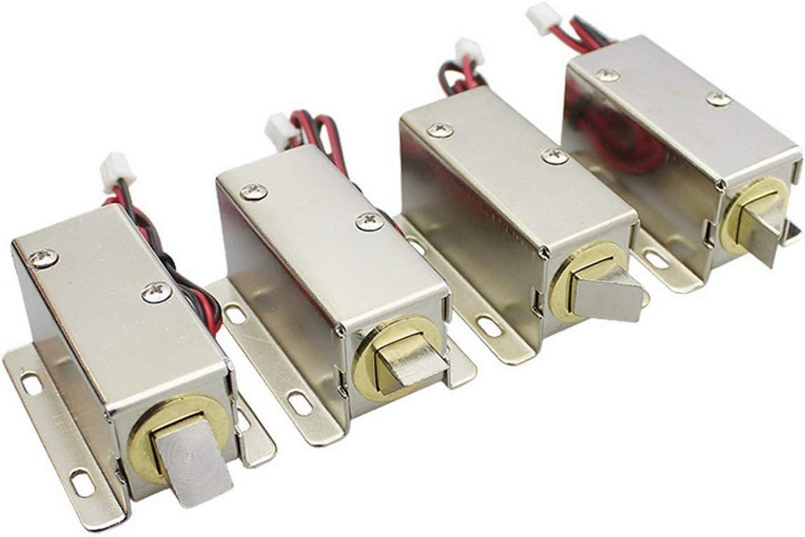 DC 24V Gabinete de exhibici/ón de archivos Gabinete Pestillo Conjunto de solenoide Cerradura el/éctrica Ajuste para ventana de gabinete de escritorio o caja de seguridad-Astilla BCVBFGCXVB