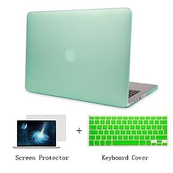 Batianda Plástico Funda Dura Carcasa para MacBook Air 11 pulgadas & Cubierta del Teclado & Protector de Pantalla,Verde
