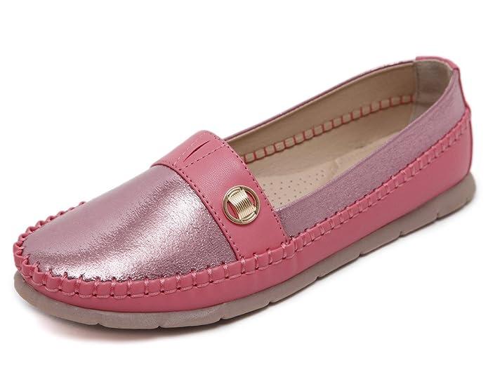 Fortunings JDS Zapatos de Haba de los Holgazanes del Ante de los Mocasines de Piel de Mujer: Amazon.es: Zapatos y complementos