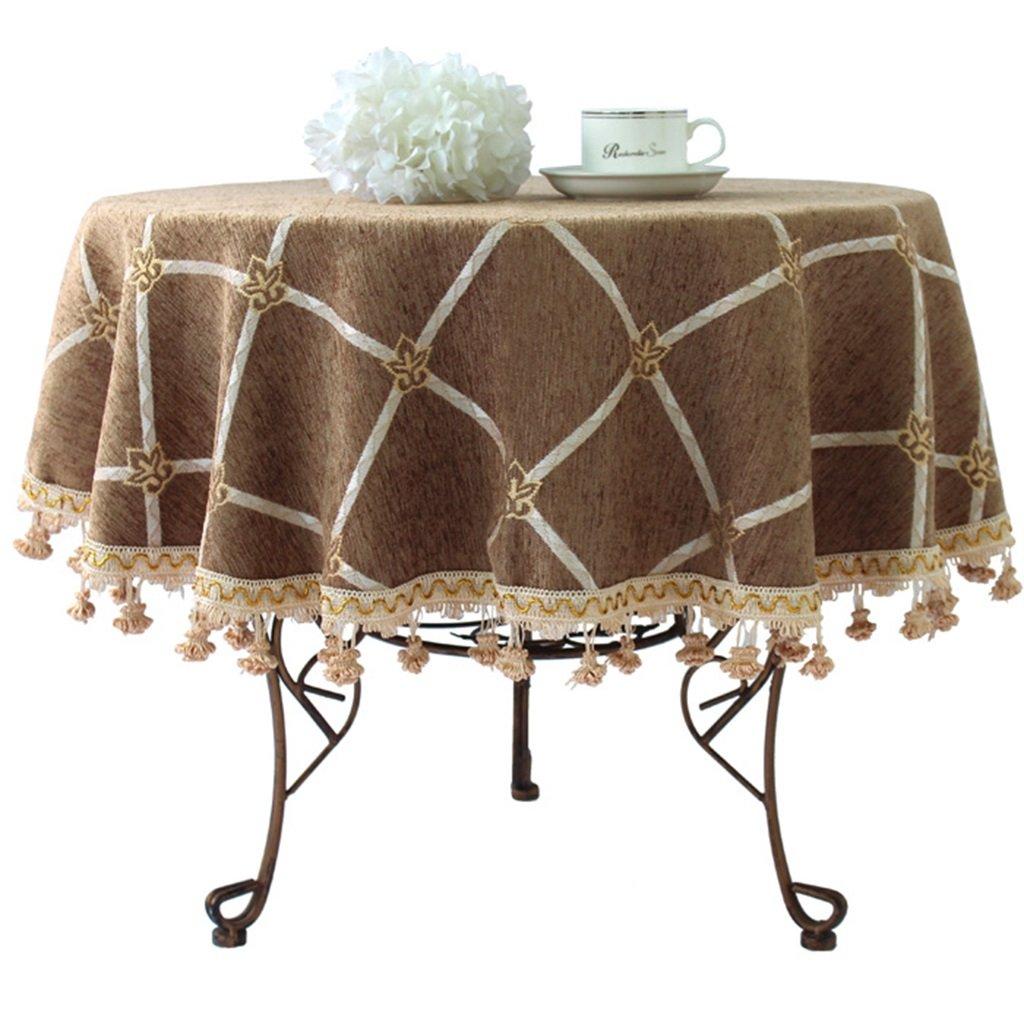 QPG High-End-Luxus-Pastoral European Round Table Cloth Round Table Cloth Größe Tetabellentuch ( Farbe   B , größe   9  ) B07BBJBKR6 Tischdecken Stilvoll und lustig  | Bequeme Berührung
