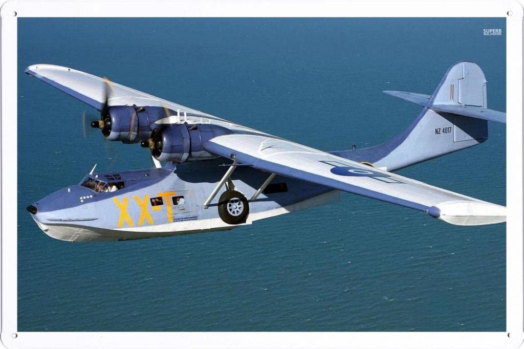 "Aircraft Tin Sign Consolidated Pby Catalina 29960 by Waller's Decor (7.8""x11.8"")"