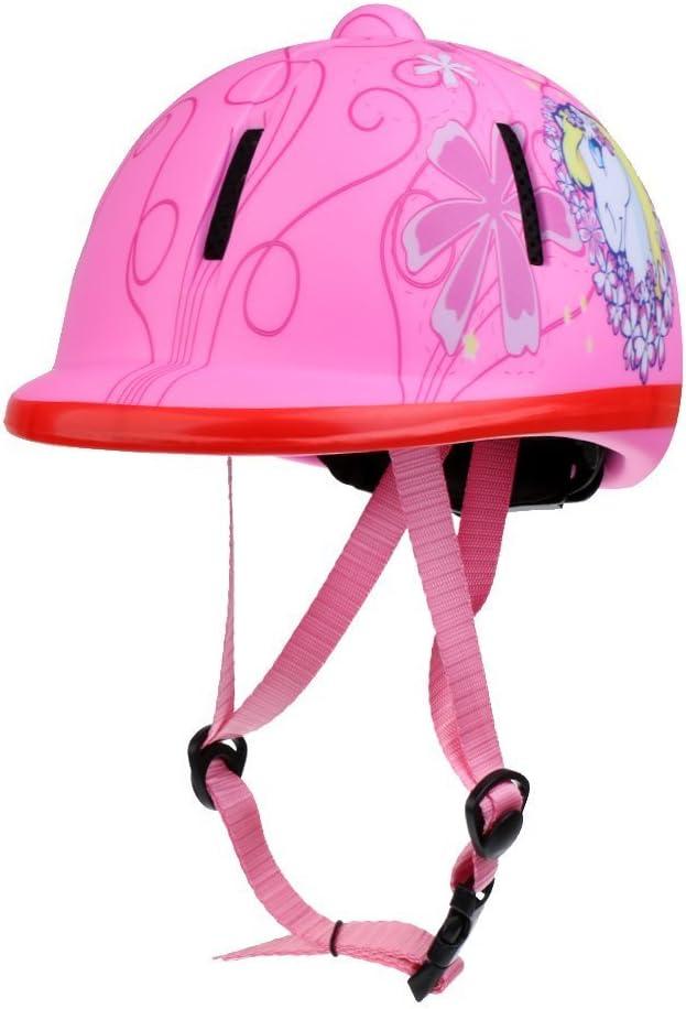 REFURBISHHOUSE Ninos Ajustable Sombrero de Montar a Caballo/Casco Protector de Cabeza -Nieve Rosado