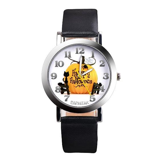 Kanpola Decoración Infantil Relojes,Fashion Christmas Elderly Pattern Leather Band Analog Quartz Vogue Watches: Amazon.es: Relojes