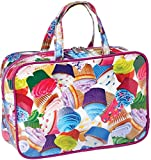iscream 'Colorful Cupcakes' 12.25'' x 8.25'' Double Handle Zippered Cosmetic Bag