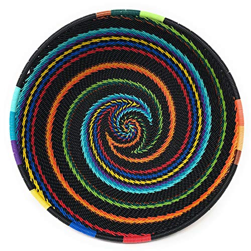 - Fair Trade Zulu Telephone Wire 6.5-inch Round Bowl, African Rainbow