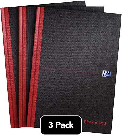 Oxford Black n Red - Cuaderno, tamaño A4, tapa dura, color negro ...