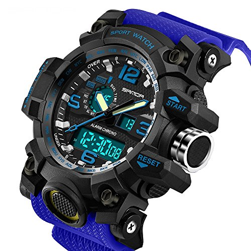 Watches Generous Sanda Luxury Brand Outdoor Men Watch Multifunction Waterproof Compass Chronograph Led Digital Sports Watches Modern Design