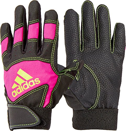 Adidas Girls' T-Ball Batting Gloves 2018 (Pink/Black, SM)
