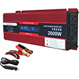 2000W (1000 watts continuous ) Power Inverter for Home Car RV with 2 AC Outlets Power Converter 12V DC to 110V AC Inverter (Cigarette lighter adapter for device under 150W )