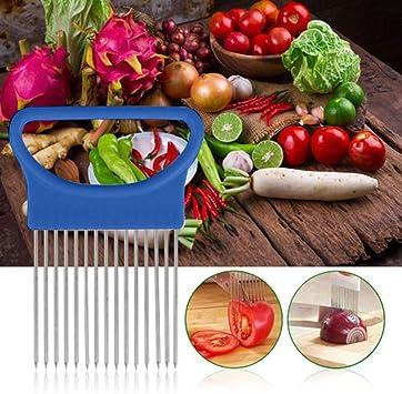 Home Vegetable Fruit Slicer Cutter Onion Fork Tomato Potato Slicers Holder Tools