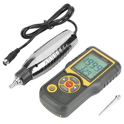 Akozon Vibrometer Precisión digital Split Type HT-1201 Sensor de aceleración Gauge con retroiluminación LCD