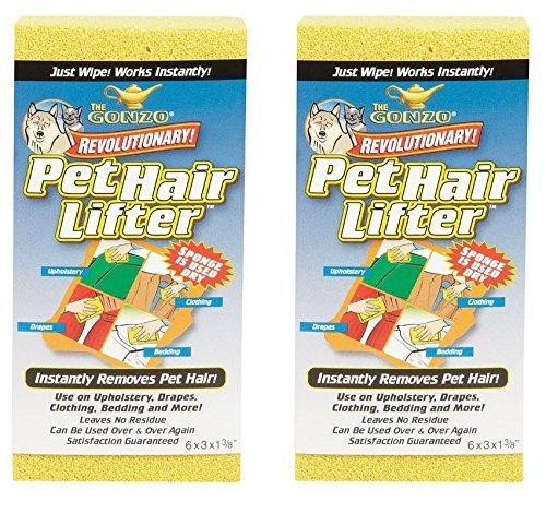 Gonzo Pet Hair Lifter Sponge - 2 Pack (Best Brush To Get Rid Of Dog Hair)