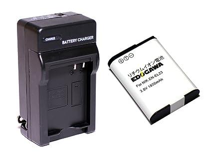 ef1e4be465 Amazon | EDOGAWA EN-EL23 互換バッテリー充電器セット NIKON ニコン(ED+ ...