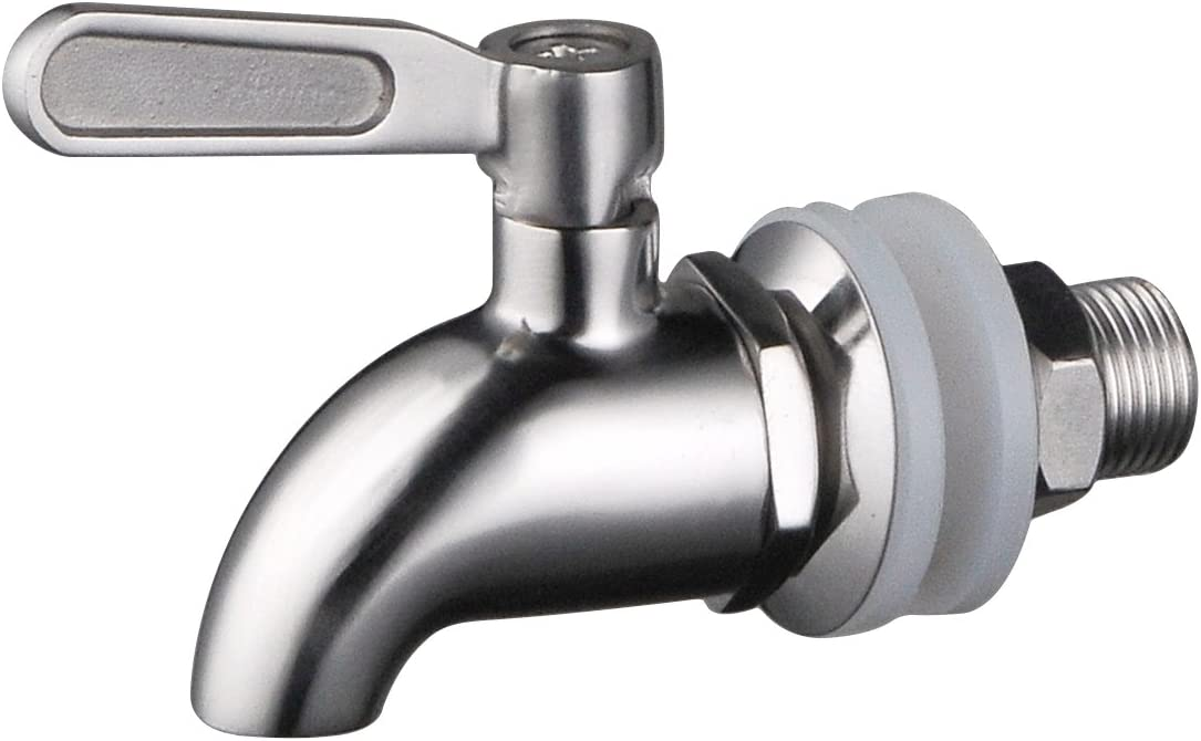 Stainless Works SSS010 Stainless Steel Beverage Dispenser Spigot (Fits 5/8 inch opening)