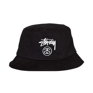 12e0d856c1a Stussy Stock Lock Bucket Hat Black Large to Extra Large  Amazon.co.uk   Clothing