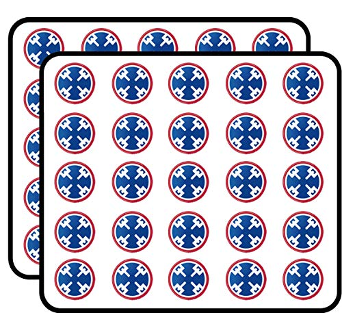(US Army 310th Support Command Patch Vinyl Transfer 50 Pack Sticker for Scrapbooking, Calendars, Arts, Album, Bullet Journals and More 1