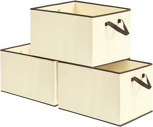 EZOWare Caja de Almacenaje con 3pcs(57L), Set de 3 Cajas de ...
