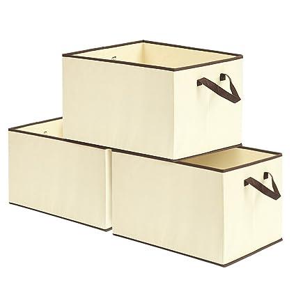 EZOWare Caja de Almacenaje con 3pcs(57L), Set de 3 Cajas de Juguetes