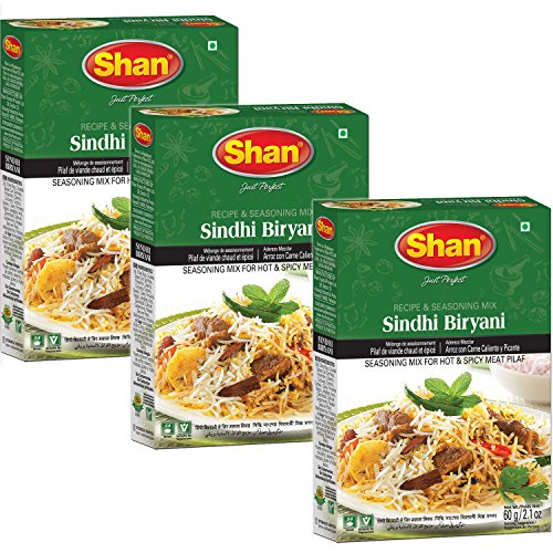 Shan - Sindhi Biryani Seasoning Mix (3 PACK), 60g x 3