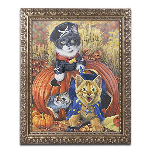 Halloween Kittens by Jenny Newland Photography in Gold Ornate Frame, 11