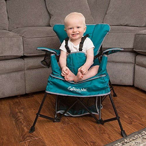 61F%2B OIuZaL - Baby Delight Go With Me Chair | Indoor/Outdoor Chair with Sun Canopy | Teal | Portable Chair converts to 3 child growth stages: Sitting, Standing and Big Kid | 3 Months to 75 lbs | Weather Resistant