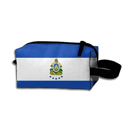 Novelty Honduras Naval Ensign Makeup Organizer Clutch Bag Pencil Case Toiletry Bag Toiletry Pouch With Zipper For Women Girls