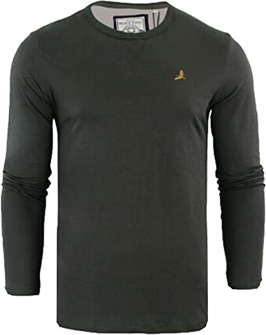 Brave Soul Casual Grandad Long Sleeve Top Plain T Shirt