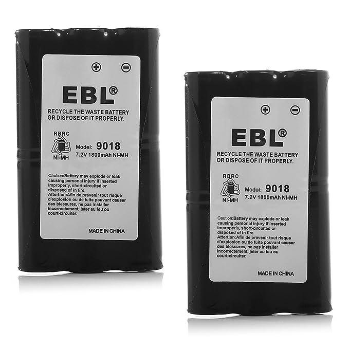 EBL HNN9018 High Capacity 1800mAh Two-Way Radio Batteries Replacement Battery for Motorola Radius Radio CP50 HNN9018 HNN9018AR HNN9018A HNN9018B, 2 Packs Batteries Combo