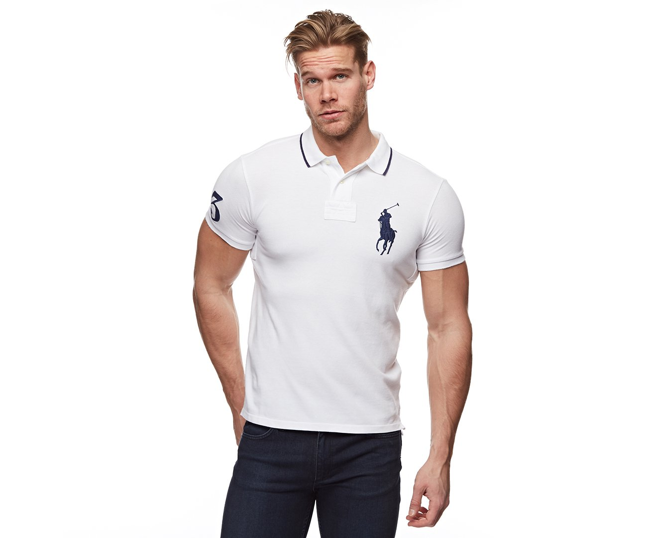 Polo Ralph Lauren Mens Custom Fit Big Pony Mesh Polo Shirt Xl