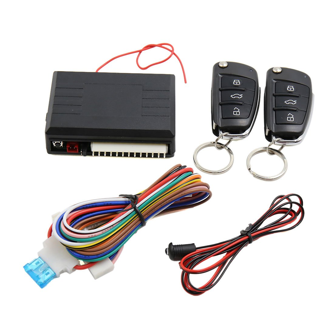 Uxcell Car Alarm System Auto Remote Central Kit Door 1985 Dodge Truck Power Lock Wiring Diagram Vehicle Keyless Entry Automotive