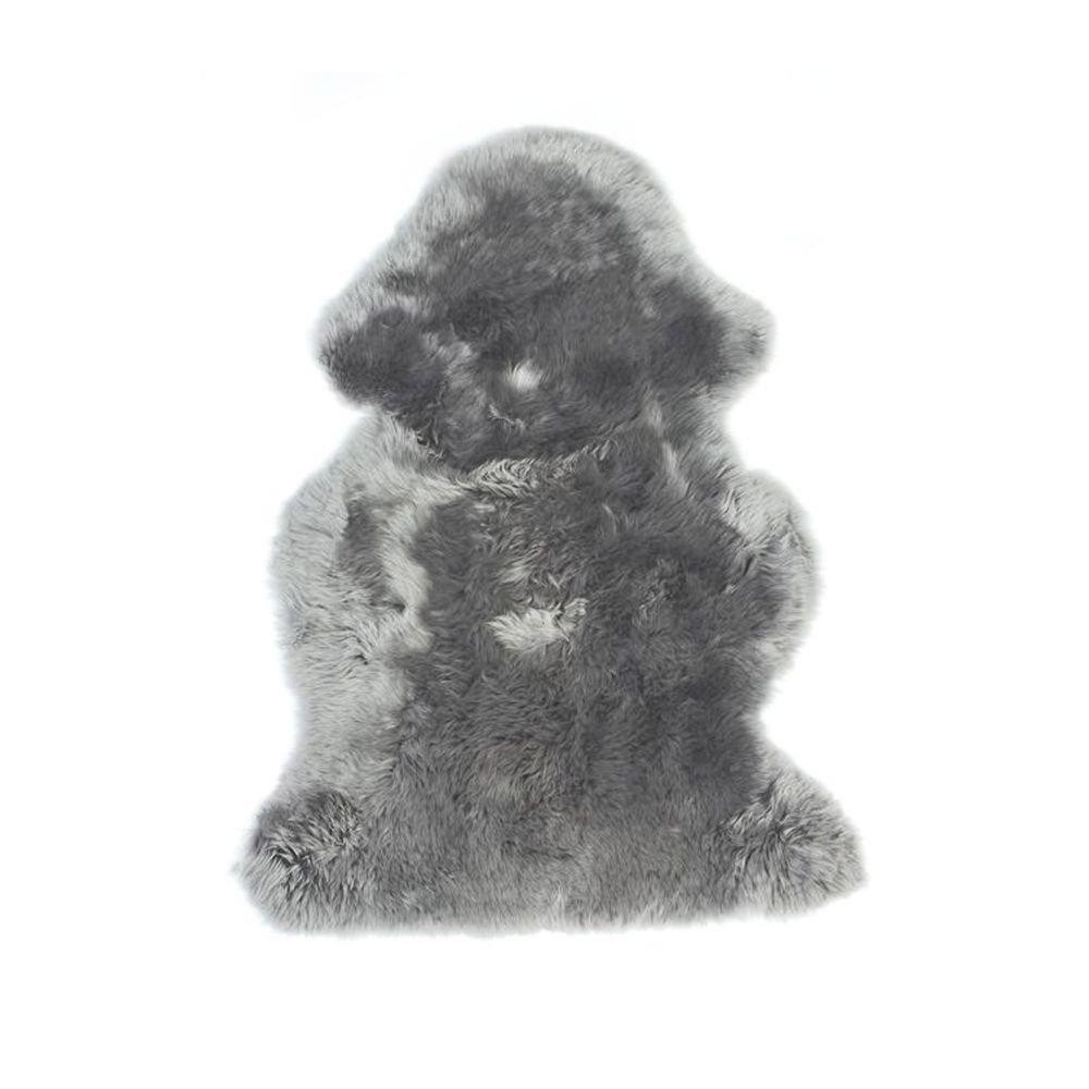 'milanari Peau d'agneau Cosy Gris clair 70 x 105 cm