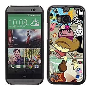 Colorful Printed Hard Protective Back Case Cover Shell Skin for All New HTC One (M8) ( Cool Colorful Graffiti )