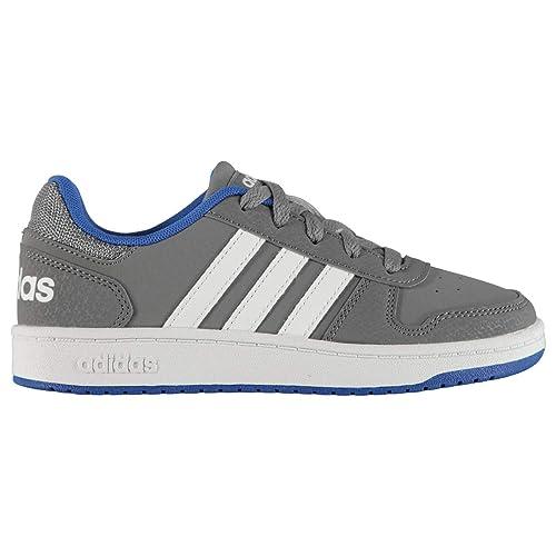 on sale 45831 d311e adidas Hoops 2.0, Scarpe da Basket Unisex-Bambini, Grigio GreyFtwwht