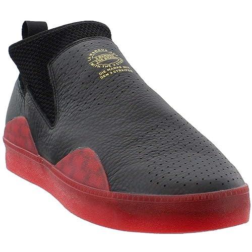 separation shoes 6d706 f847d Adidas 3ST.002 Nakel Skate Shoes Black Scarlet