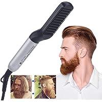 Electric Hair Straightener Brush, AU PLUG Quick Beard Straightener Styler Comb for Men, Hair Straightening, Curly Hair Straightening Comb, Side Hair Detangling, Multifunctional Hair Curling Curler