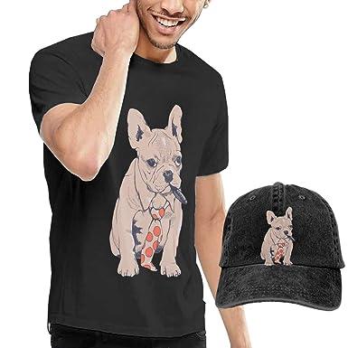 Amazon.com  French Bulldog Boss Men s Short Sleeve T-Shirt   Polo Style  Baseball Caps Hats  Clothing c44b1b127e8