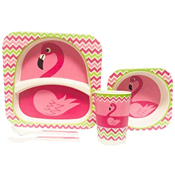 Amazon Com Natural Organic Bamboo Fibers Flamingo Design Children