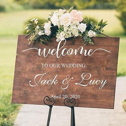 Wsliuxu Wedding Sticker Dance Floor Sign Bride And Groom