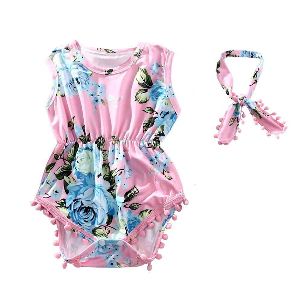 5dd48b335276 Amazon.com  Hollyhorse 2pcs Baby Girl Clothes Newborn