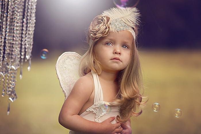 89a7e5de1 Amazon.com: Allure Designs Girls Feather Headband Baby Girl Feather ...