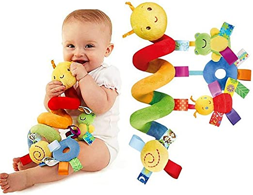 Baby Infant Animal Hand Rattles Plush Stroller Hanging Bell Teether Bed Toys LS