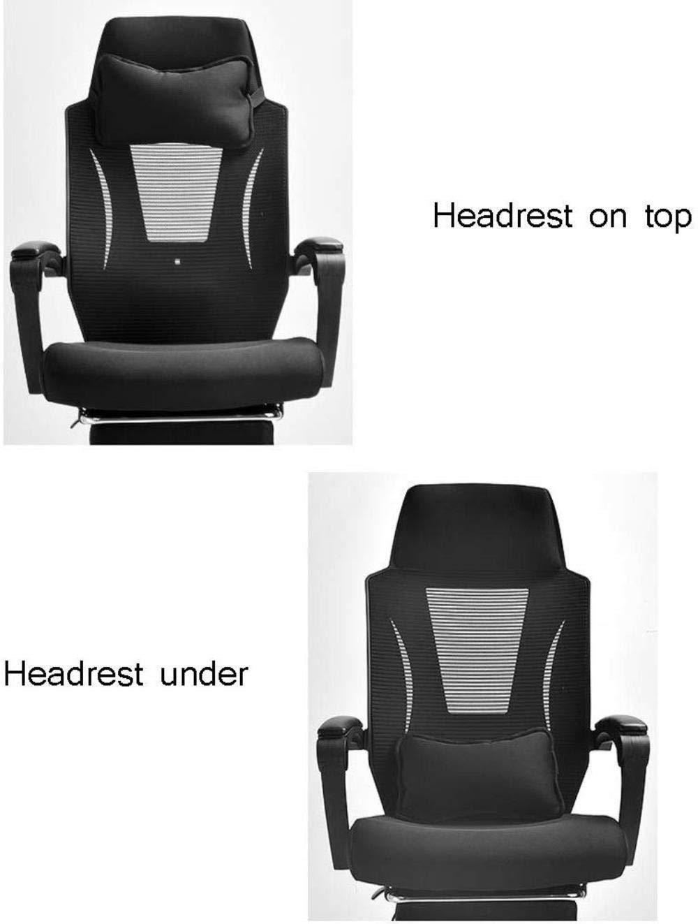 Xiuyun kontorsstol spelstol, höjd justerbar ergonomisk skrivbordsstol med fotstöd andningsbar mesh verkställande dator uppgift stol 150 ° vilande svängbar stol (färg: Stil3) style4