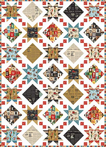 Carta Bella Cowboy Country Stars and Windows Quilt Kit Riley Blake Designs KT0123