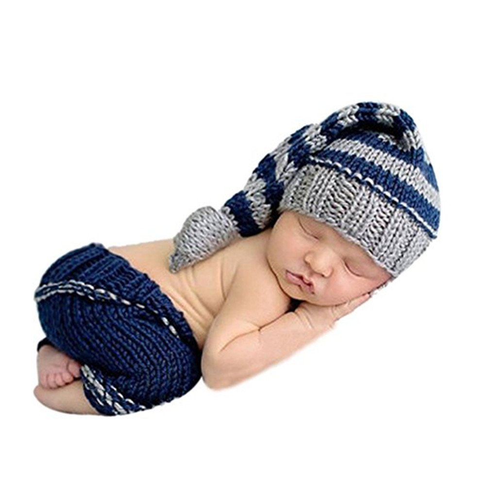 Newborn Toddler Baby Girls Boys Knit Crochet Hat Photo Photography Props Outfit