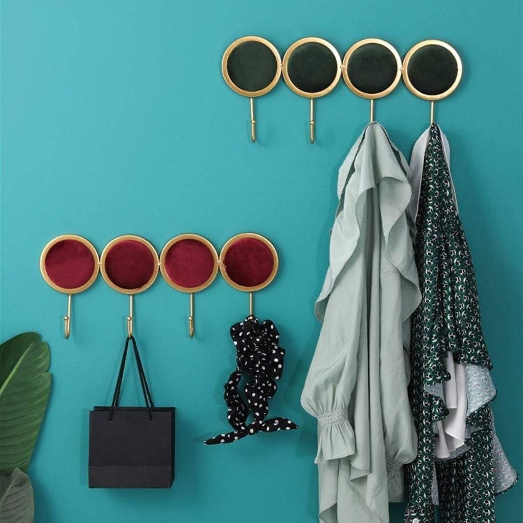 YXW-NMLB Wall-mounted Coat Hooks, Racks, Coat Hooks Entrance Door, Wall Key Hooks, Storage Wall Decoration, 30.7 * 3.7 * 18cm, Red (Color : Navy) Navy