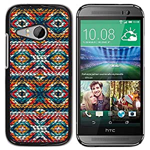 For HTC ONE MINI 2 / M8 MINI - Cool Geometric Eyes Pattern /Modelo de la piel protectora de la cubierta del caso/ - Super Marley Shop -