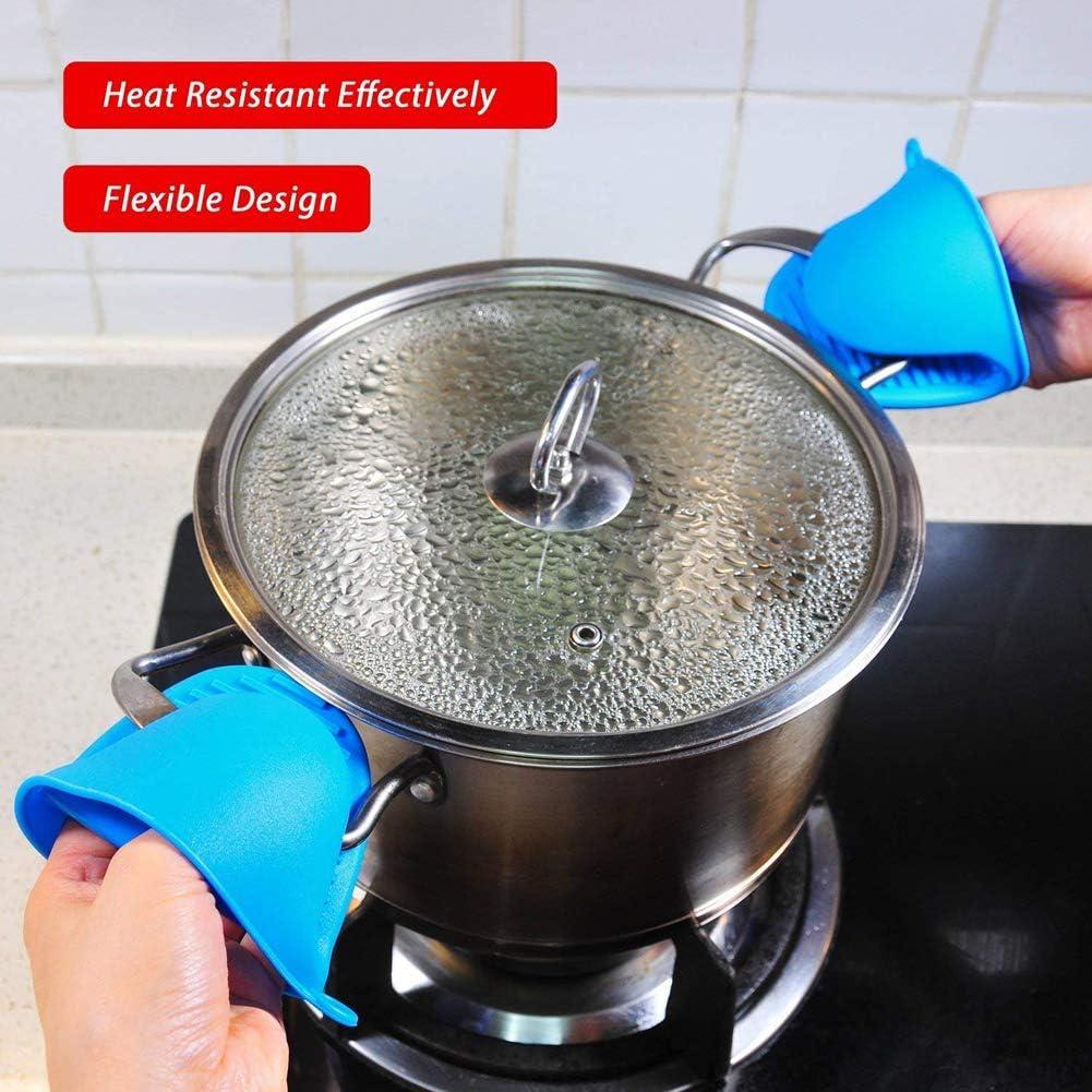 Paskyee Paire de gants de cuisine en silicone r/ésistant /à la chaleur
